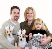 クリスマスに家族 — ストック写真