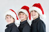 Brothers at Christmas — Foto de Stock