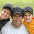 Dad and Boys — Stock Photo