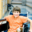 Boy in Wheelchair — Foto de Stock