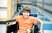 Boy in Wheelchair — Stock Photo