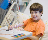Boy in the Hospital — Stock Photo