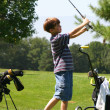 Boy Golfing — Stock Photo