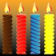 Burning candle — Vector de stock