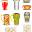 Set of coffee cups — Stock Vector