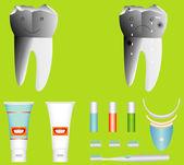 Människans tänder — Stockvektor
