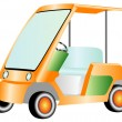Golf-electric car — Imagen vectorial