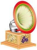 Gramophone antiquaire — Vecteur
