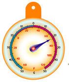 Yuvarlak termometre — Stok Vektör