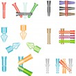 Dowels — Stock Vector #33330787