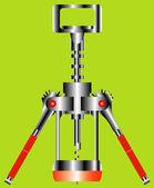Corkscrew — Vector de stock