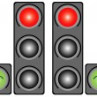 Traffic light in the city — Stock Vector