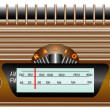 Stock Vector: Old radio