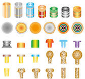Set of bottle caps — Stock Vector