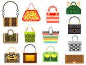 Leather handbags — Stock Vector