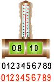 Electronic alarm clock — Stock Vector