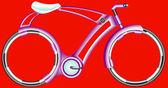 Futurist Bicycle — Stock Vector