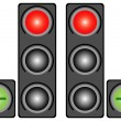 Stock Vector: City traffic light