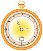 Gold pocket watch — Stock Vector