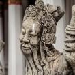 Chinese stile stone statue in Wat Pho, Bangkok — Stock Photo