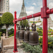 Buddhist bells at Wat Arun in Bangkok — Stock Photo