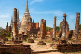 Ruins of ancient palace Wat Phra Si Sanphet, Ayutthaya — Stock Photo