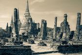 Ruins of ancient palace Wat Phra Si Sanphet, Ayutthaya — Stock Photo