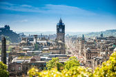 View from Calton Hill to the Edinburgh City, Scotland — Stock Photo