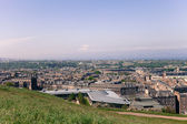 View from Calton Hill to the Edinburgh City, Scotland — 图库照片