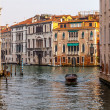 Motor boat rides on the canal in Venice, Italy — Stock Photo