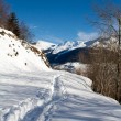 Winter landscape of Switzerland Alps  — Stockfoto