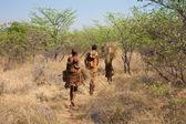Family of Botswana Bushmen — Stock Photo
