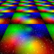 Space dance floor — Stock Photo