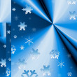 Christmas blue background — Stock Photo