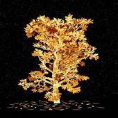 Golden tree - oak — Stock Photo