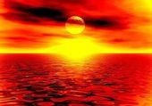 Sunset. Illustration — Stock Photo
