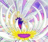 Lila abstraktion blomma — Stockfoto