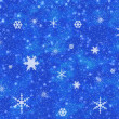Blue snow background — Stock Photo