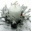 Stock Photo: Christmas candlestick