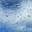 Drops on window — Stock Photo