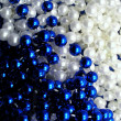 White and Blue beads — Stock Photo #32636871