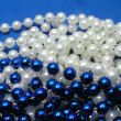 White and Blue beads. — Stock Photo #32637333