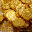 Golden coins — Stock Photo
