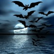 Moon and bats — Stock Photo #32637627