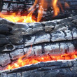 Stock Photo: Flame of bonfire