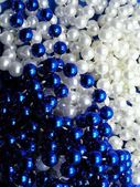 White and Blue beads — Stock Photo
