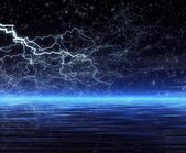 Night. Forked lightning — Stock Photo