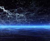 Night. Forked lightning — Stock Photo
