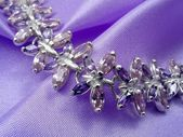 Bracelet with amethysts isolated — Stok fotoğraf