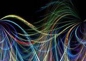 Abstract colored threads — Stock Photo
